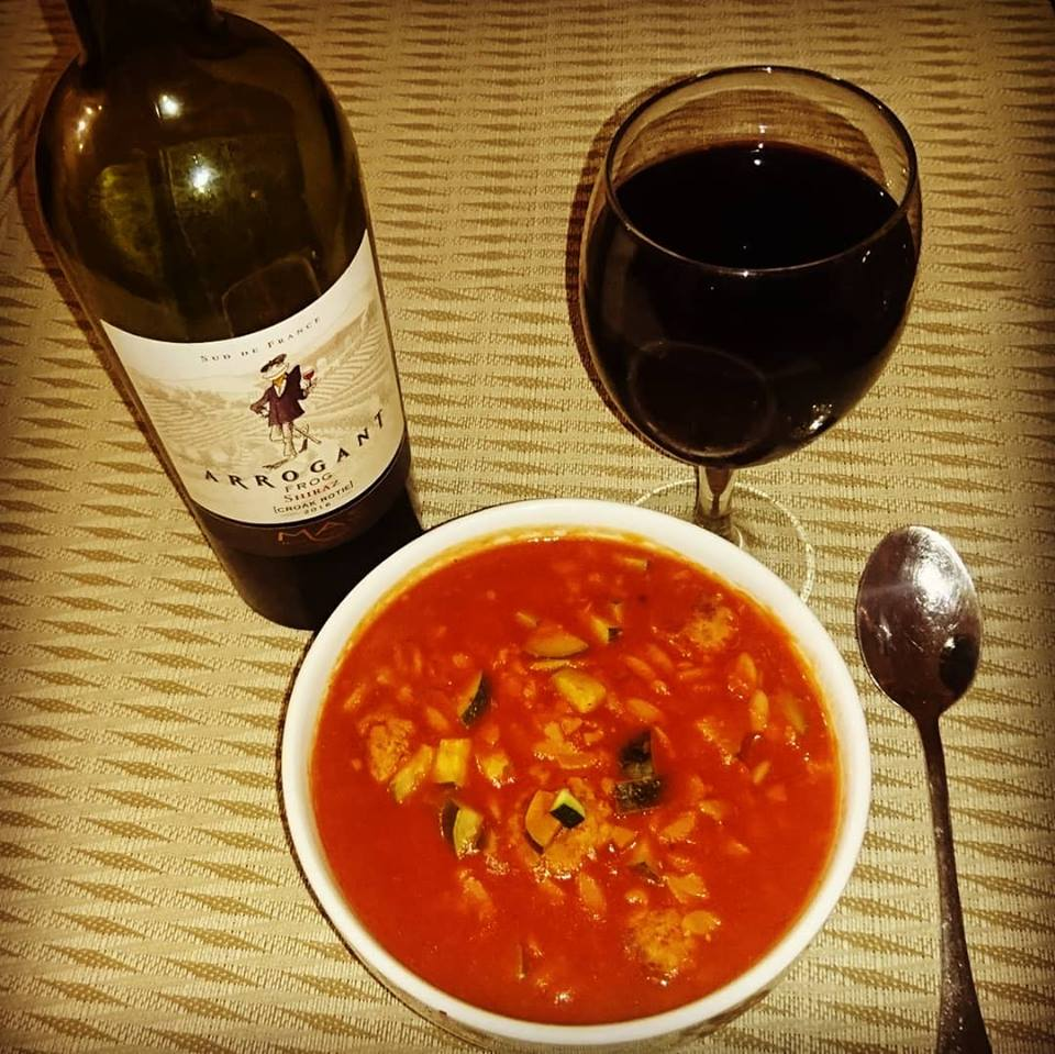 Risoni Meatball Soup