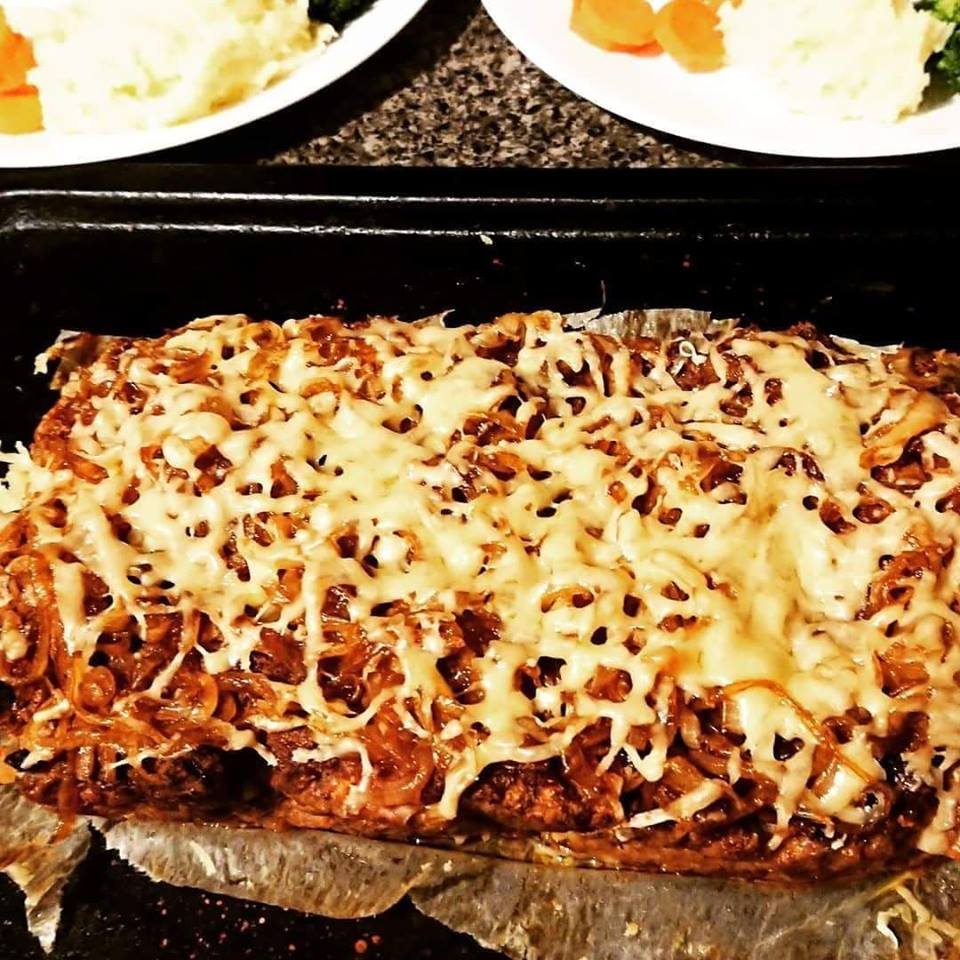 Cheese and French Onion Meatloaf