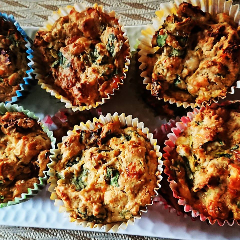 Vegetable, Feta and Sun-Dried Tomato Muffins