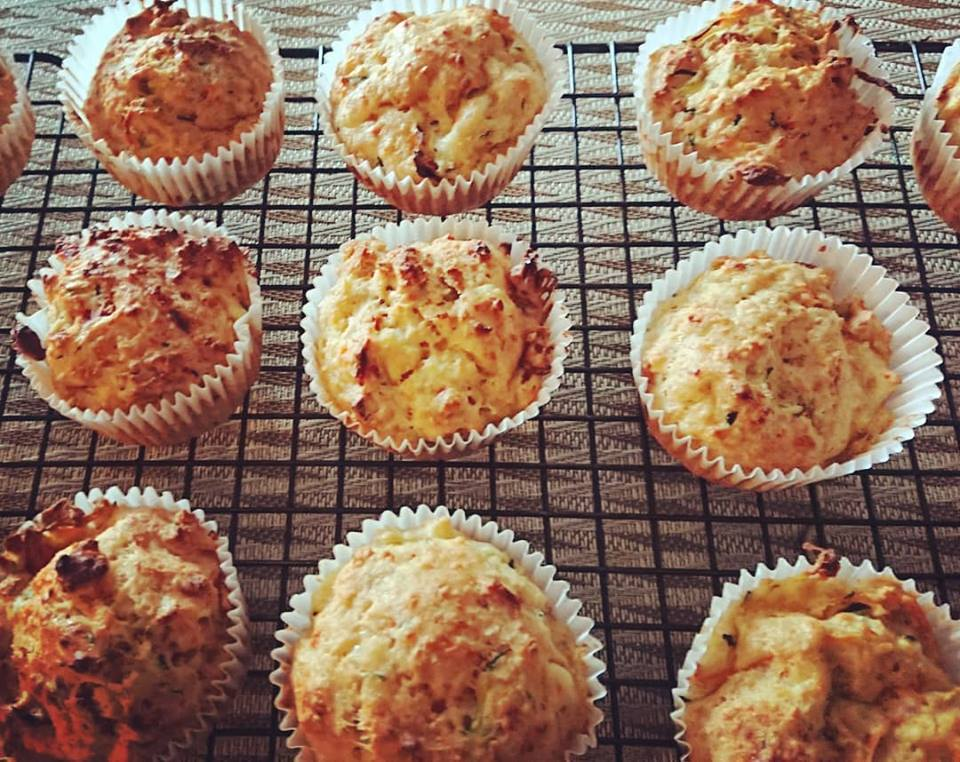 Parmesan and vegetable muffins