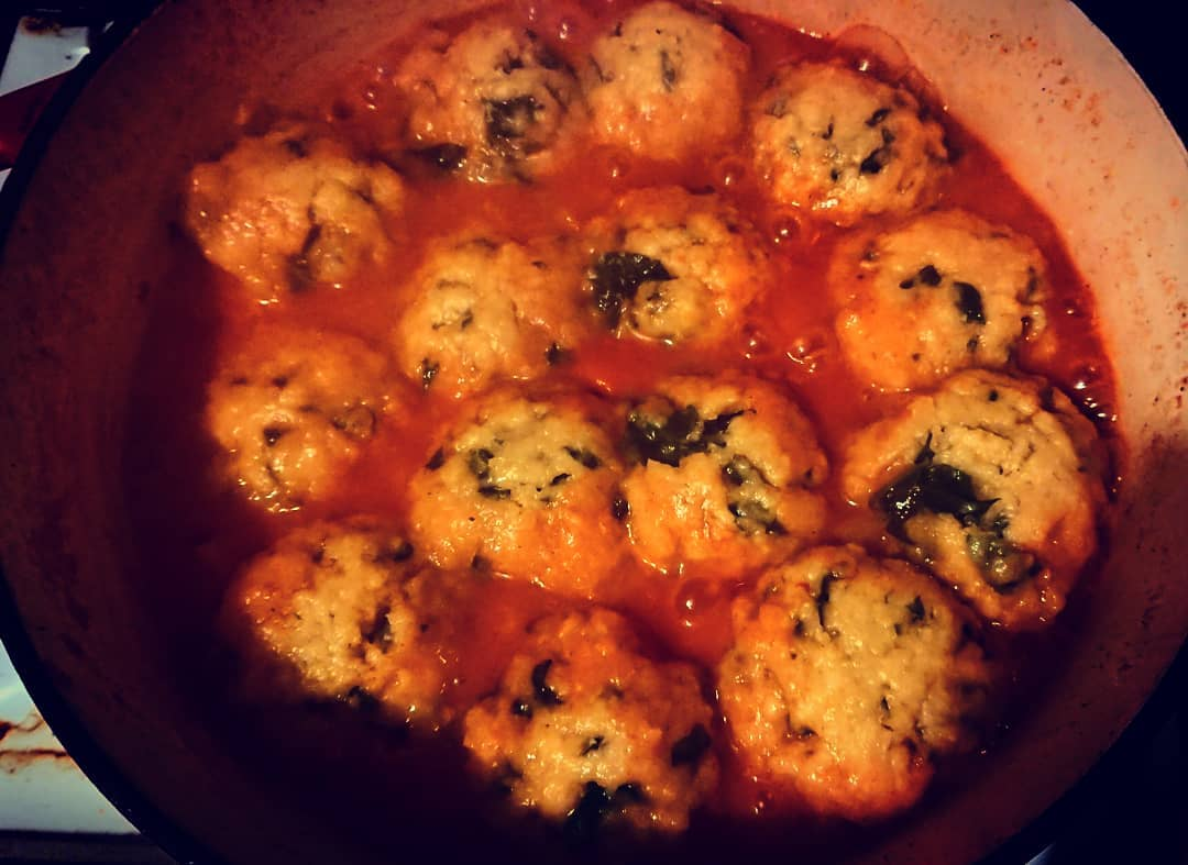 Winter Vegetable Soup with Parmesan and Spinach Dumplings