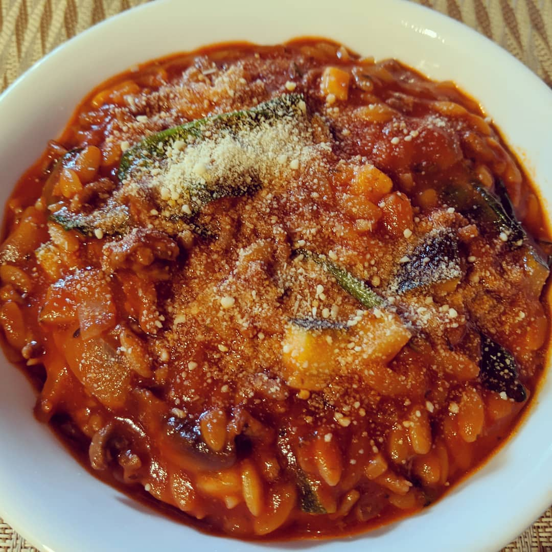 Risoni Vegetable Bolognese