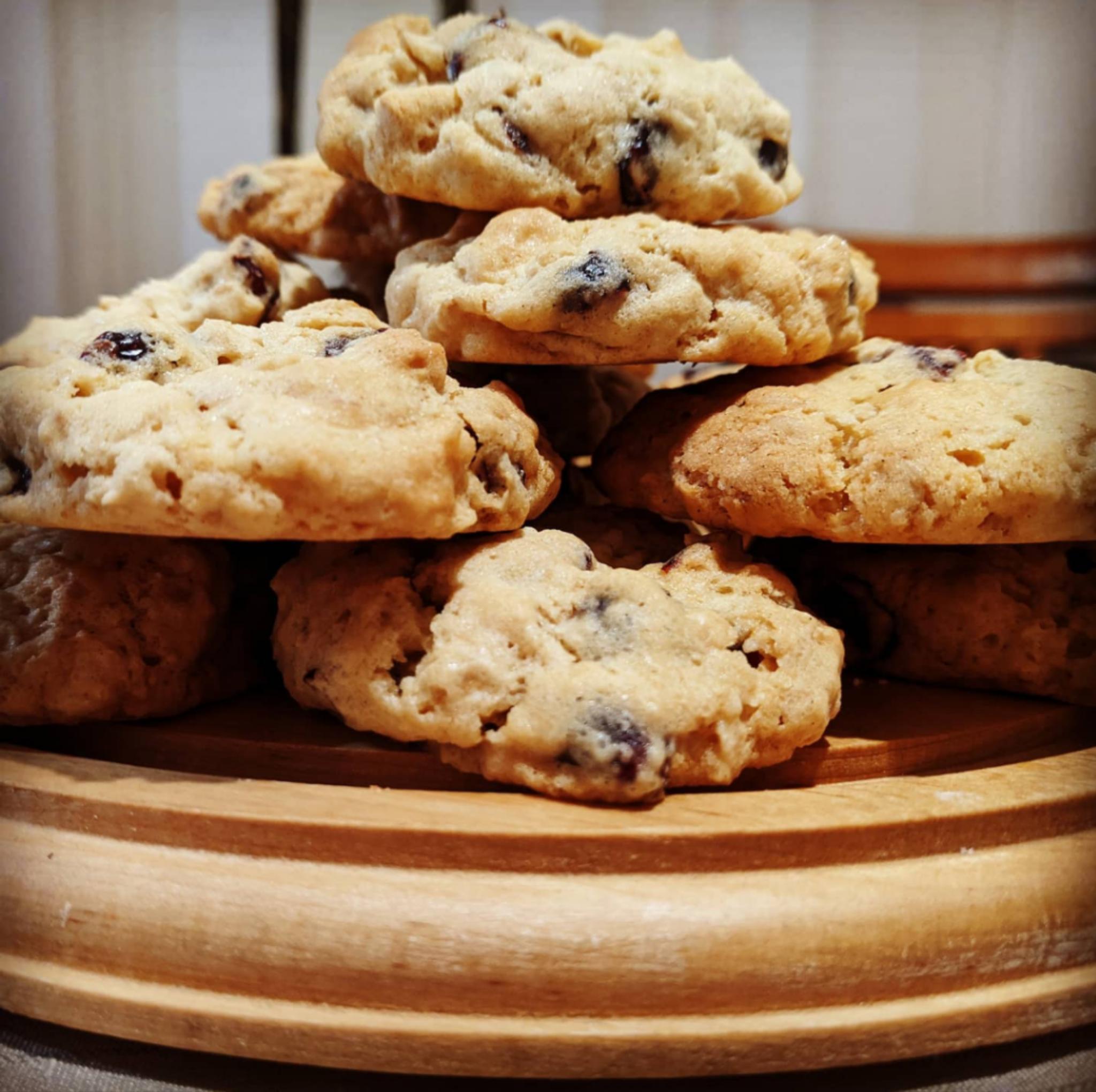 Craisin & White Choc Oatmeal Cookies