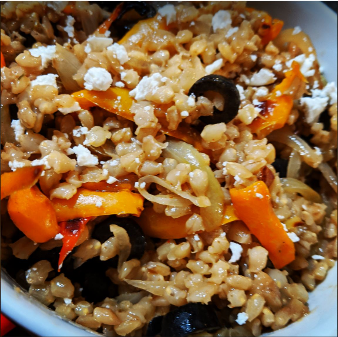 Grilled Capsicum and Barley Salad